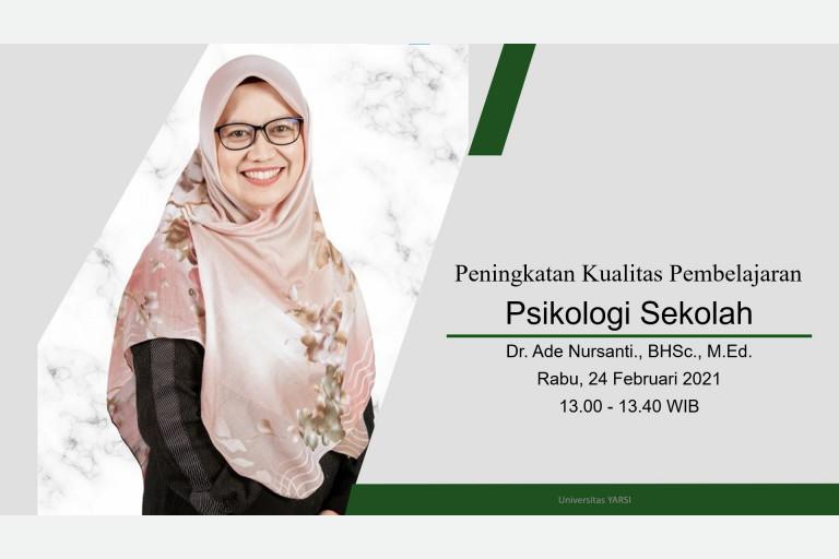 Dr. Ade Nursanti, M.Ed.