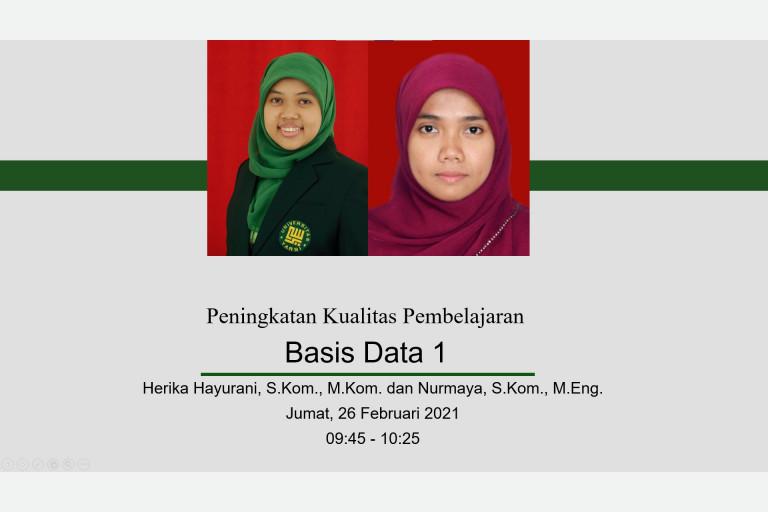 Herika Hayurani, M.Kom. dan Nurmaya, M.Eng.